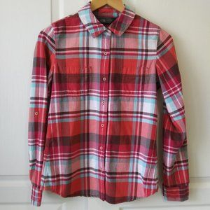 The North Face Plaid Button Up Shirt Size M